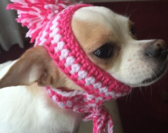 7333f12db09 Snowman Dog Hat Crochet Dog Clothes Chihuahua Pet