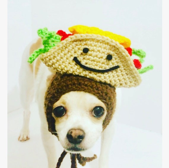 Small Dog Clothes Dog Costume Dog Hats for Dogs Chihuahua costume Pet Costume Dog Costume Taco Dog Hat Dog Snood