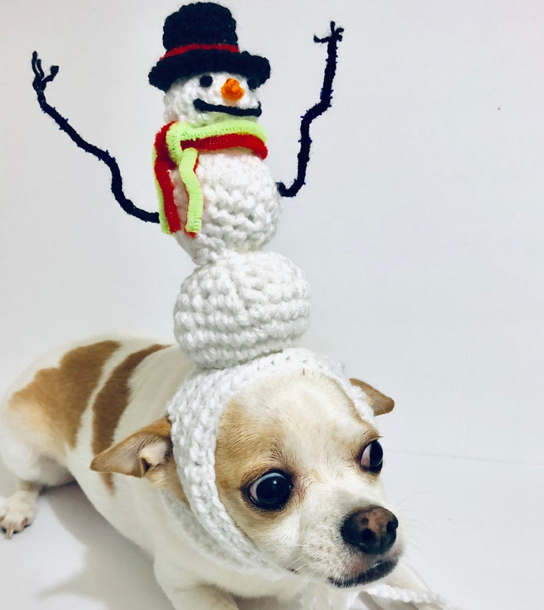 ddf095f70a7 Dog Costume Snowman Dog Hat Christmas dog hat dog costume