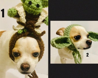 Yoda dog Hat, Dog Hat, Dog Photo Prop, Dog Clothes, Dog Hats, Hats for Dogs, Dog Costume, Halloween  Dog Costume, Dogs