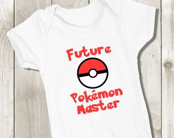 4990cf7d Future Pokemon Master Baby Bodysuit - Pokemon Go Outfit - Pokemon Baby  Onepiece - Pokeball Baby Outfit Cosplay - Unisex Boy Girl Baby Outfit