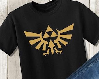d6f7943c8 Legend of Zelda Shirt - Gold Triforce Tshirt - Hylian Crest Shirt - Unisex  Kids Children's Tshirt - Baby Bodysuit