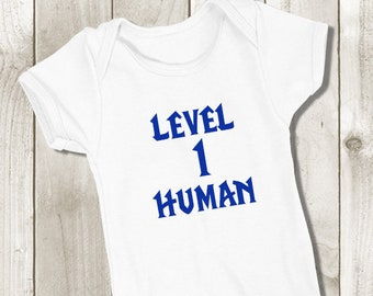 7d6c748dd Level 1 Human Bodysuit - World of Warcraft Baby Onepiece - For the Alliance  - Baby Shower Gift - Boys or Girls Unisex Babies Outfit
