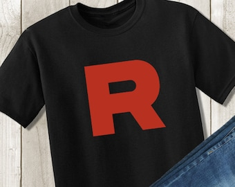 d83c8eba Pokemon Go Team Rocket Shirt - Pokemon Tshirt - Team Rocket Tee - Pokemon  Cosplay - Kids Children's Tshirt or Unisex Adult Shirt