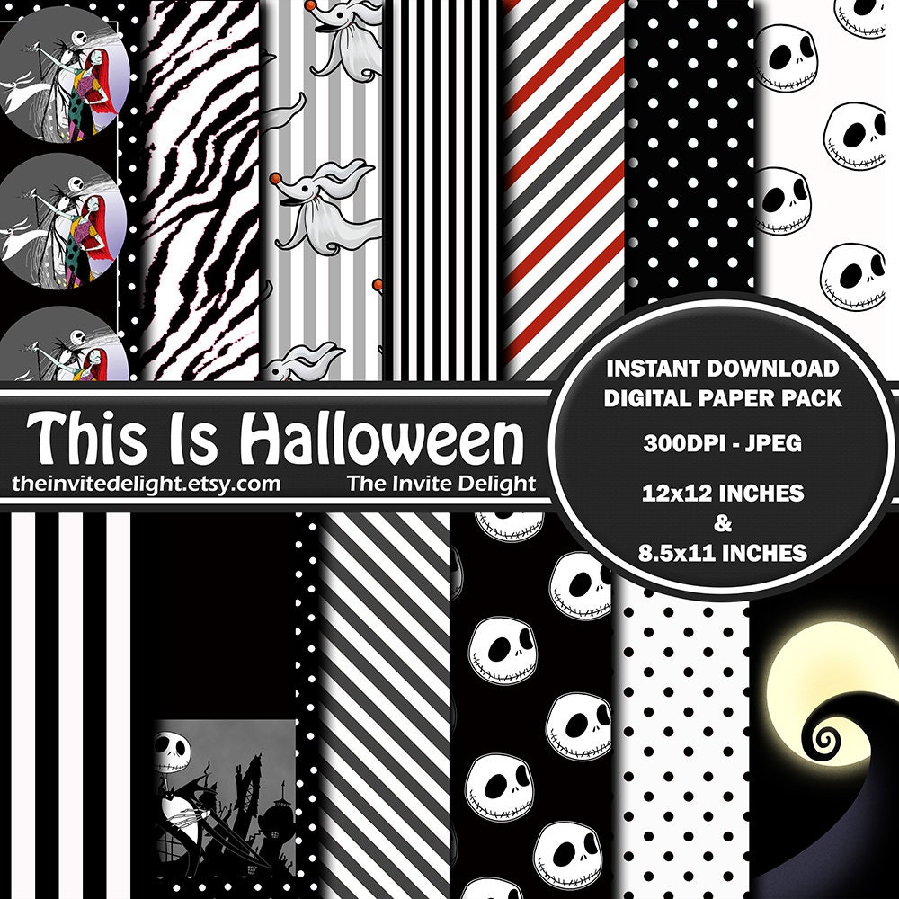 Nightmare Before Christmas Digital Paper Pack This is | Etsy
