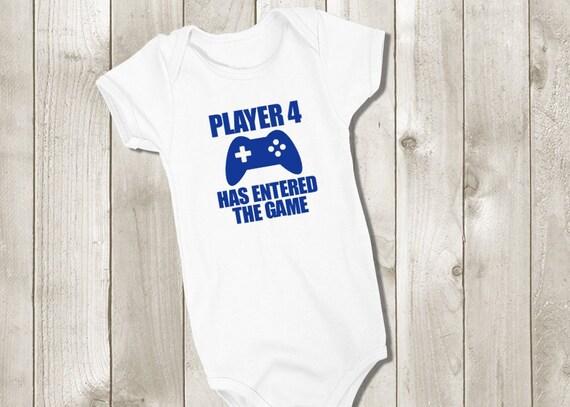 c015cbd56 Player 4 Has Entered the Game Bodysuit Gamer Baby Onesie | Etsy
