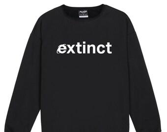 Extinct Sweater Jumper Womens Ladies Fun Tumblr Hipster Fashion Grunge Cry Baby Tear Top Cute Vintage Kawaii Cute Pink Internet Wifi
