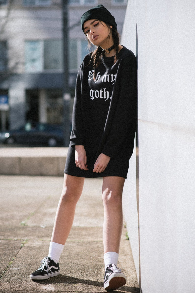 9d250ddecd Oh My Goth Sweater Dress Jumper Womens Tumblr Grunge Funny