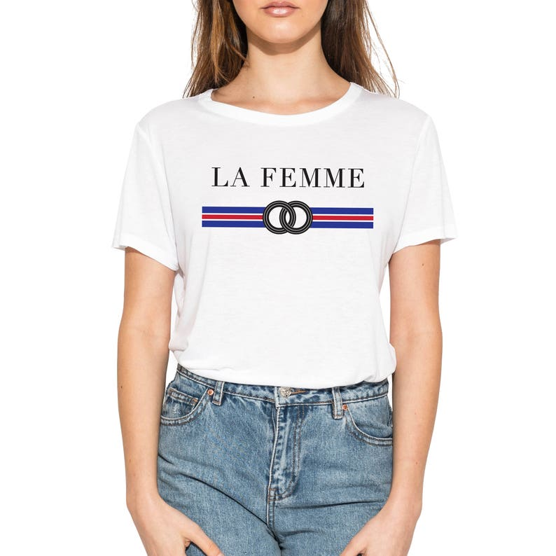 4a460b1af138 La Femme Tee Womens T Shirt Top Tank Ladies Fun Tumblr Hipster | Etsy