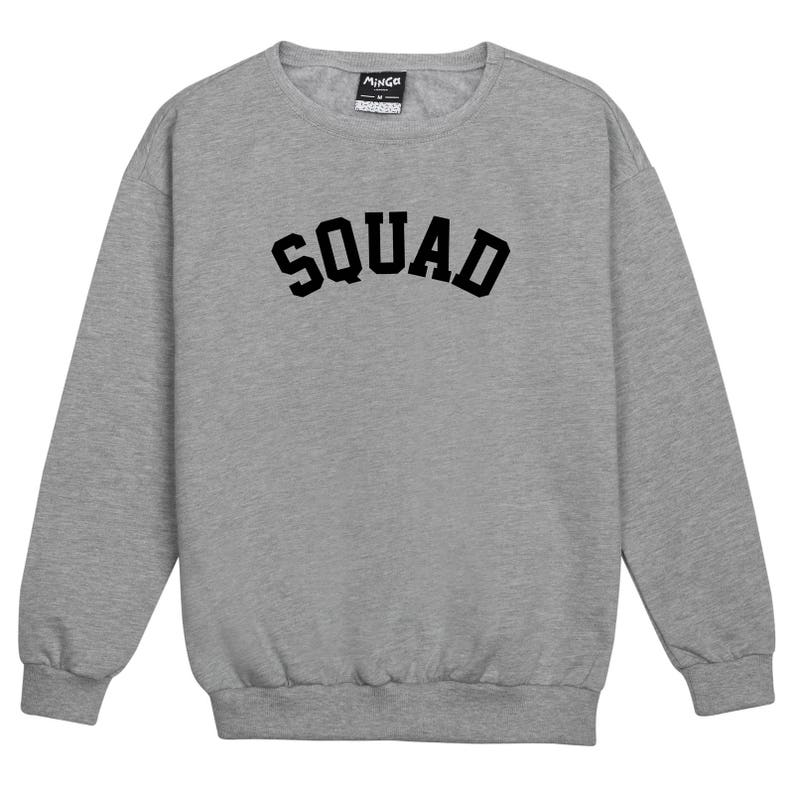 5000349a5fc6 Squad Sweater Jumper Womens Ladies Fun Tumblr Hipster Swag | Etsy
