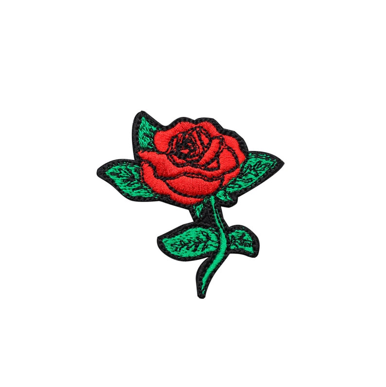 fea0351519e Rose Embroidered Patch Iron On Badge Gift Tumblr Flower