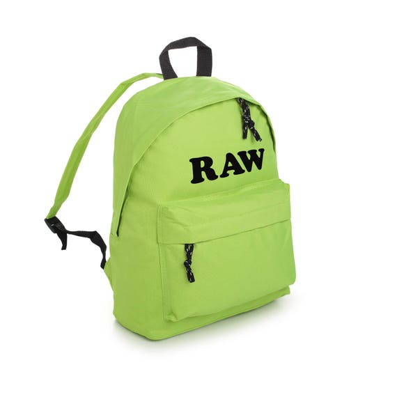11f890e2dbf Raw Backpack School Bag Rucksack Sports Travel Tumblr Funny