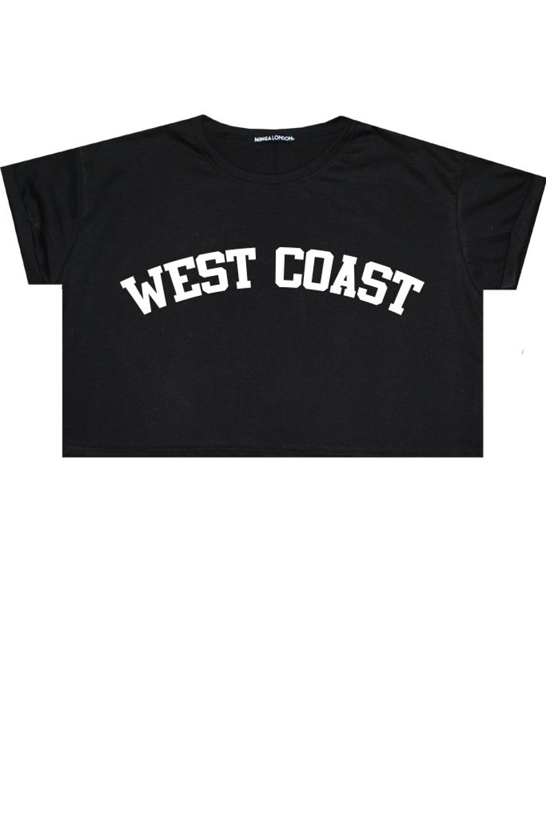 09a2829b248 West Coast Crop Top T Shirt Tee Womens Girl Funny Fun Tumblr | Etsy