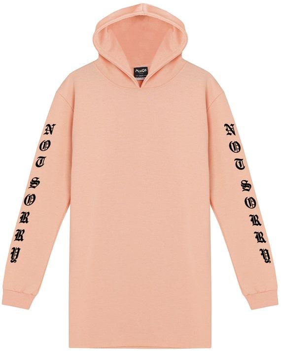 55e4932e5d Not Sorry Hooded Dress Sweater Jumper Hoodie Womens Tumblr