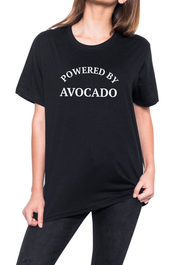 f24befbde70 Powered Avocado T Shirt Womens Mens Ladies Boys Girl Tee Top