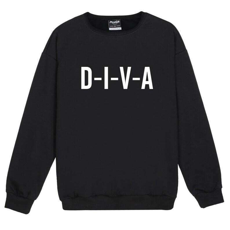 Tumblr Jumper Etsy Divertente Swag Maglione Diva Hipster qAR7vFnW