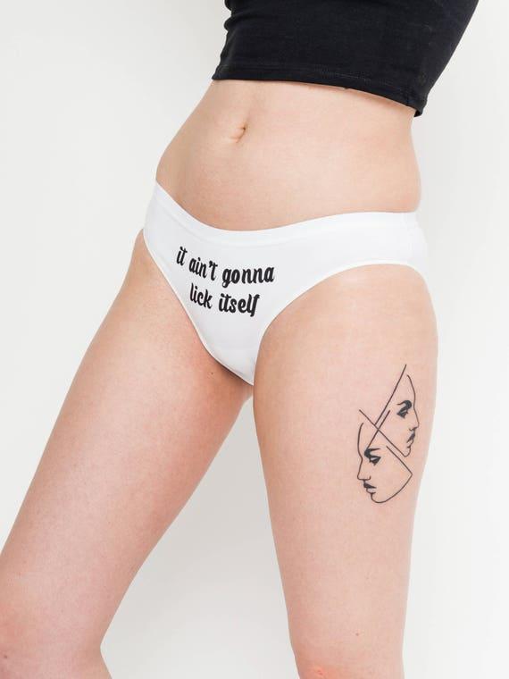Personalised Womens Underwear Cute It Aint Gonna Lick Itself Knickers Underwear