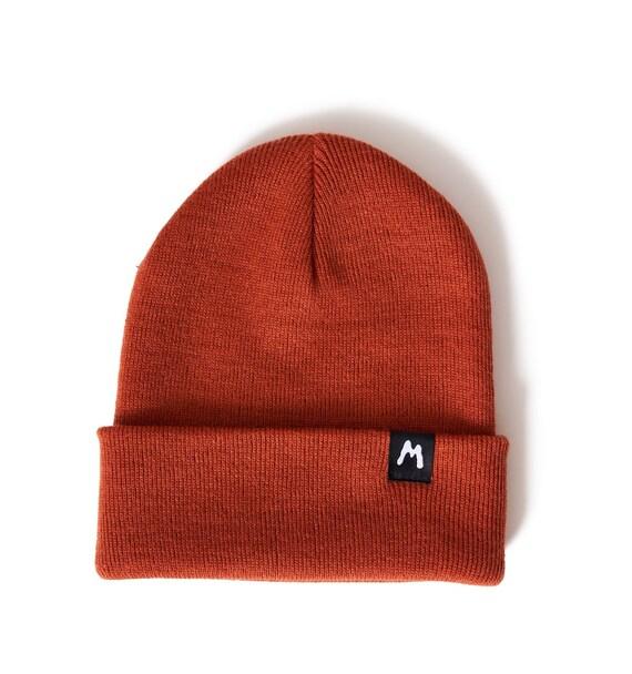 Rust Basic Beanie Knit Hat Womens Mens Unisex Fashion Grunge  f3a261682131