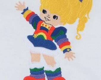 Rainbow Brite 5x7 machine embroidery design