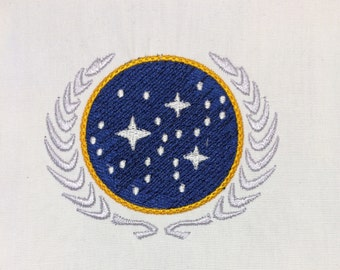 United Federation of Planets machine embroidery design 4x4