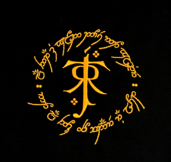 Tolkien Symbol And Ring 5x7 Machine Embroidery Design Etsy