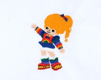 Rainbow Brite 4x4 machine embroidery design