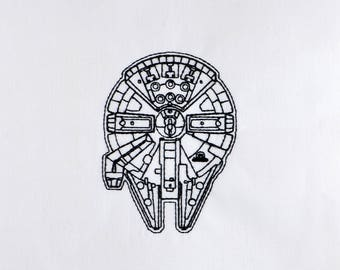Millenium Falcon 4x4 machine embroidery design