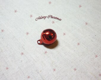 1 Bell 16 mm bright red Christmas decoration