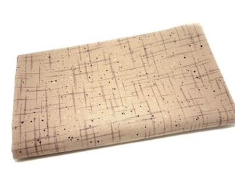 Beige graphic fabric coupon 25 X 110 cm for sewing patchwork - Stof Denmark