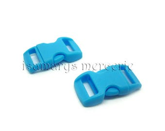 X 2 loops quick strap 10 mm and Paracord - azure - total measure 29 x 15 mm