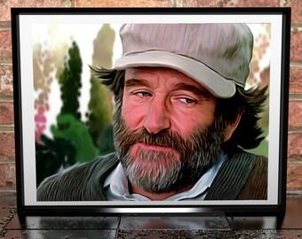 Robin Williams - Good Will Hunting Painting Poster Print - Digital Illustration - Movie Art - Film Poster