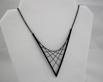 3D PRINTED Parabolic Suspension Necklace