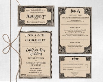 Wedding Invite Rsvp Harry Potter Hogwarts Express Train Ticket