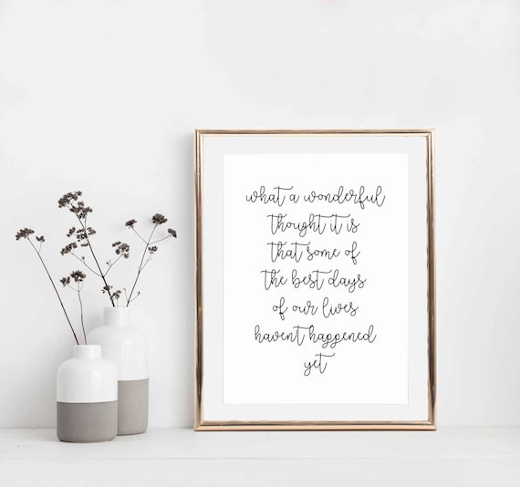 """/""""What a wonderful thought it is.../"""" Poster Gift MOTIVATIONAL ART PRINT 04"""