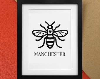 Manchester Worker Bee Print | Home Decor Poster