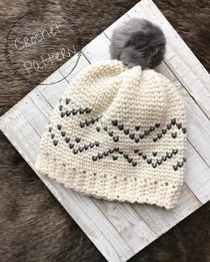 5d525194a Everest Beanie Crochet Pattern, PDF Pattern, Written Tutorial