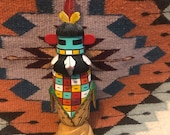 Native American, Hopi Kachina Doll , Hand Carved Katsina, Artist signed Larsen Harris