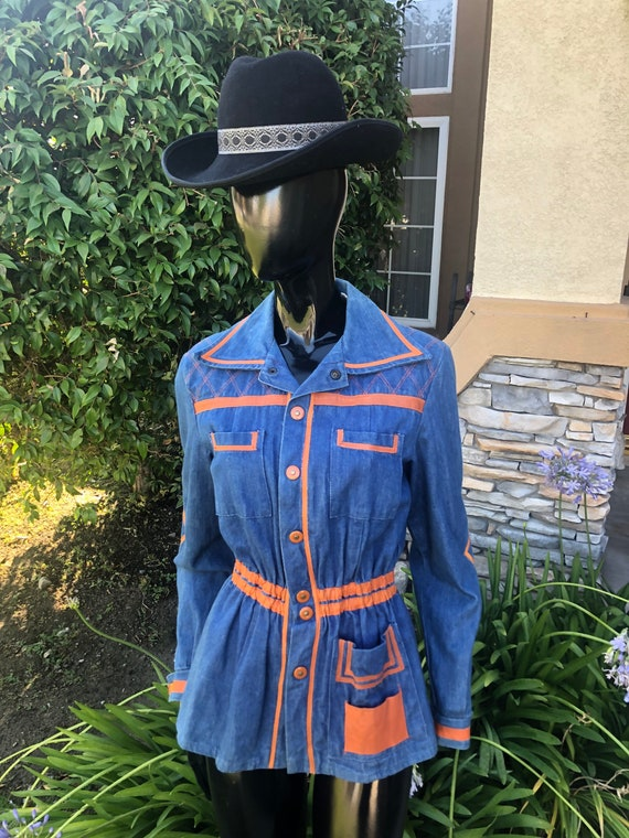 "Vintage denim jacket ""faded glory"" SIZE S-M"