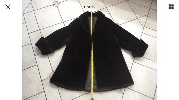 Vintage Genuine Lamb Fur Mutton coat size L