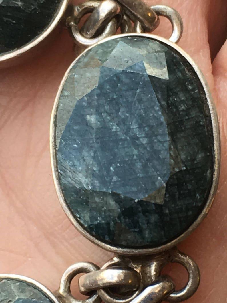 emerald bracelet One Sterling Silver genuine natural gemstones