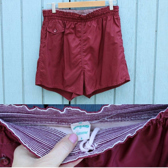 Vintage 60's 70's Men's Swim Trunks Bathing Suit B
