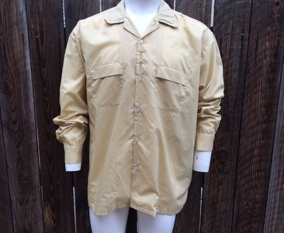 1960/'s Brent long sleeve button-up shirt medium