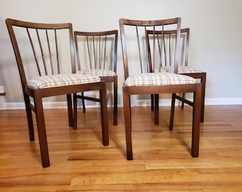 Lovely Mid Century Danish Modern Set Of Four Dining Chairs Made In West Germany