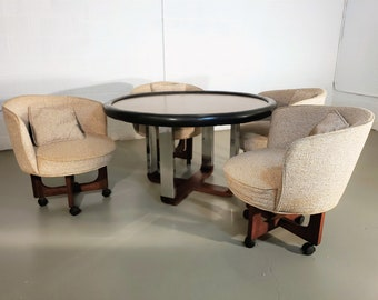 Game Table And Chairs Etsy