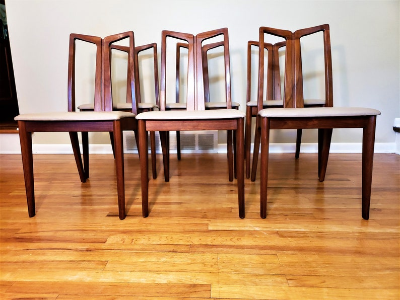 Mid Century Drexel Set Of Six Dining Chairs