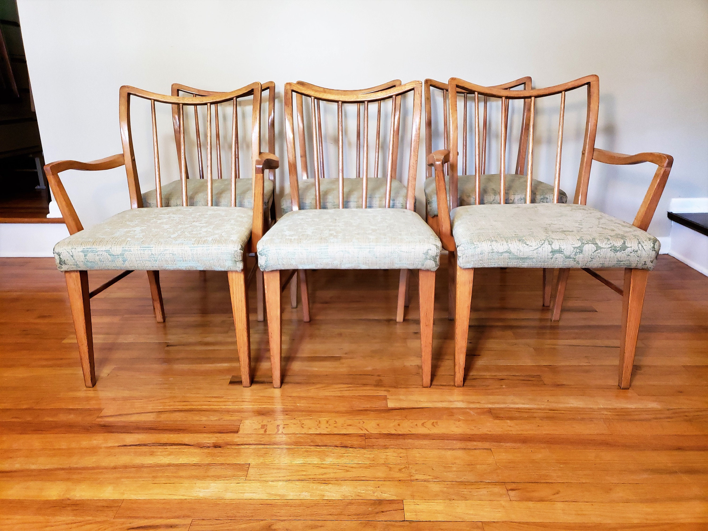 Astounding Mid Century Danish Modern Set Of Six Oak Dining Chairs Caraccident5 Cool Chair Designs And Ideas Caraccident5Info