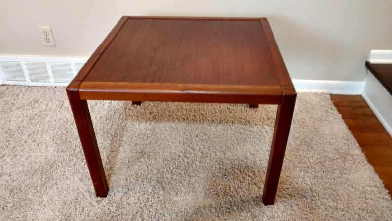 Danish Teak Side Table.Mid Century Danish Teak Side Table