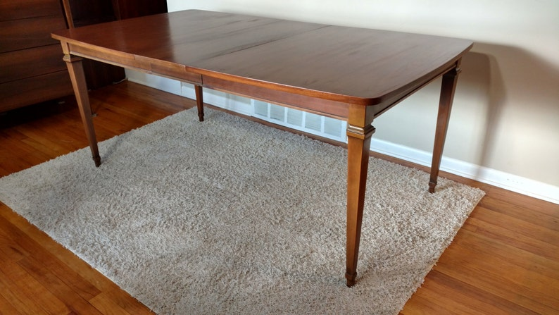 628fa3903a616 Mid Century Lenoir Dining Table Expandable to 72 Inches