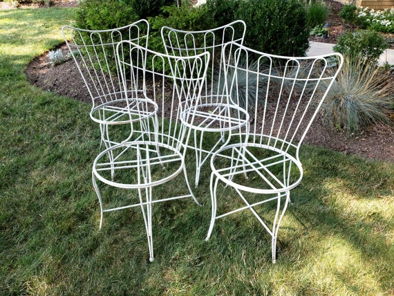 Brilliant Mid Century Homecrest Set Of Four Outdoor Chairs Gmtry Best Dining Table And Chair Ideas Images Gmtryco