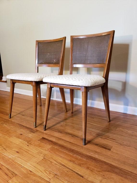 Mid Century John Widdicomb Pair Of Dining Chairs Etsy